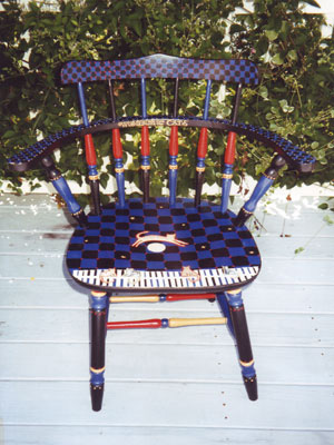 SOLD, Painted Captains Chair
